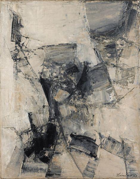 Leon Zack , 1892-1980 Composition huile sur toile