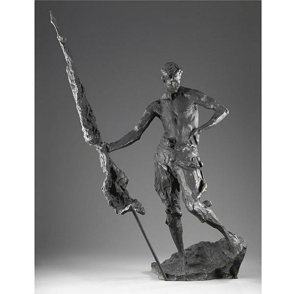Ernesto Bazzaro , (Milano 1859 - 1937) Il legionario bronzo