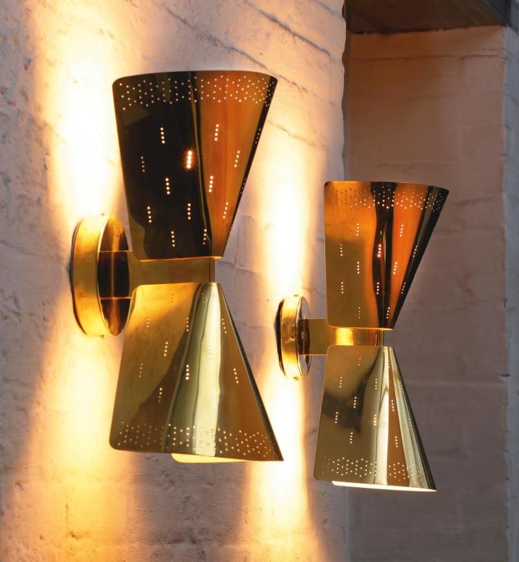 Wall Lights Models : PAAVO TYNELL Pair of Wall Lights, Model No. 6204