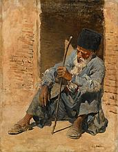 EDWIN LORD WEEKS | Man Resting in a Doorway, Ispahan, Persia