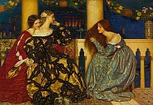 FRANK CADOGAN COWPER | Venetian Ladies Listening to the Serenade