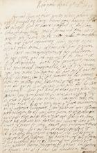 LAURENCE, FIRST EARL OF ROCHESTER. TWO AUTOGRAPH MANUSCRIPT MEDITATIONS, 1686-91