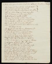 POETRY. MANUSCRIPT VERSES, 18TH CENTURY