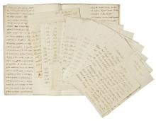 HOWE, ADMIRAL RICHARD. 16 AUTOGRAPH LETTERS SIGNED TO LORD CLARENDON, MOSTLY RELATING TO THE REVOLUTIONARY WAR, 1775-78