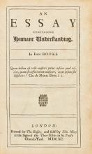 LOCKE, JOHN. AN ESSAY CONCERNING HUMANE UNDERSTANDING LONDON, 1690 (1 VOL.)