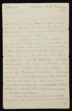 COOTE, GENERAL SIR EYRE. THREE AUTOGRAPH LETTERS SIGNED AND RELATED MATERIAL, 1780-85