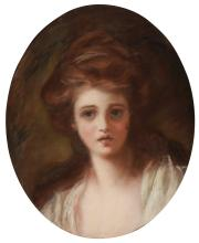 ROMNEY, GEORGE, AFTER. PORTRAIT OF EMMA HAMILTON AS CIRCE, NINETEENTH CENTURY (1)