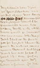 NELSON, HORATIO, LORD. AUTOGRAPH LETTER, UNSIGNED, TO EMMA HAMILTON, 1804