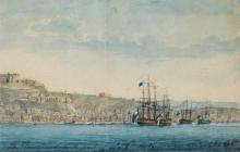 WEIR, JAMES. COLLECTION OF WATERCOLOUR VIEWS OF NAVAL SUBJECTS, 1796-99