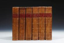 GIBBON, EDWARD. THE HISTORY OF THE DECLINE AND FALL OF THE ROMAN EMPIRE, 1776-1788 (6 VOL.)