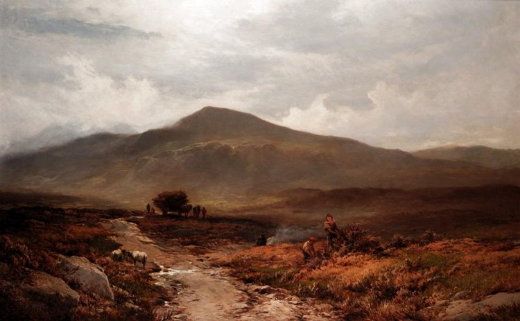 ALFRED WALTER WILLIAMS, 1824-1905 ON THE MOORLANDS ABOVE TREFRIW, NORTH WALES