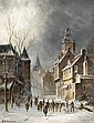 HENDRIK BAREND KOEKKOEK, DUTCH 1849-1909 A STREET SCENE IN WINTER, Barend Hendrik Koekkoek, Click for value