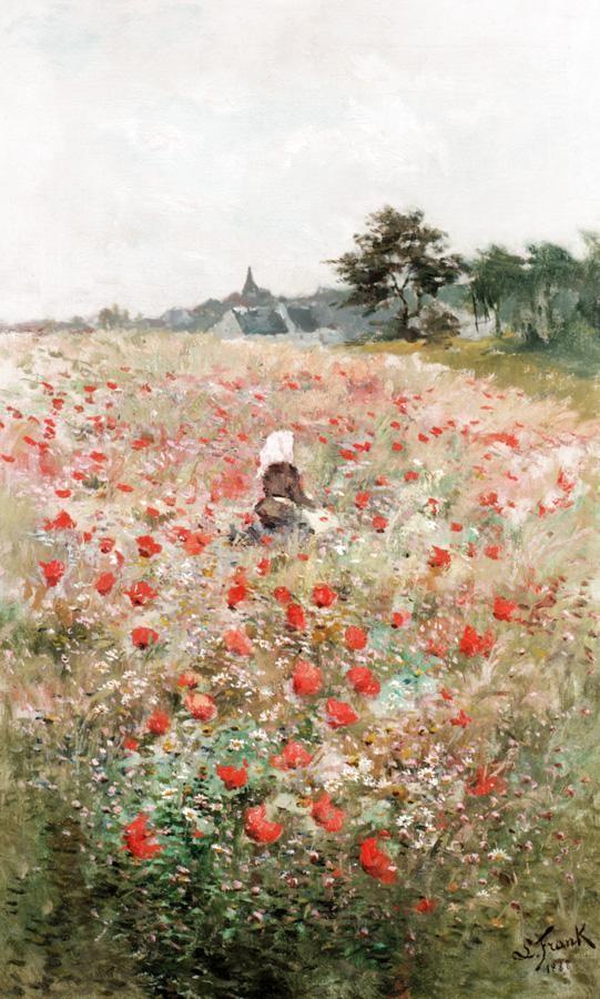 LUCIEN FRANK, BELGIAN 1857-1920 POPPY FIELD