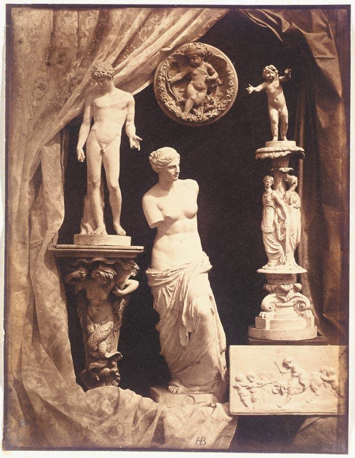 HIPPOLYTE BAYARD, 1801-1887 STILL LIFE WITH STATUARY, EARLY 1850S