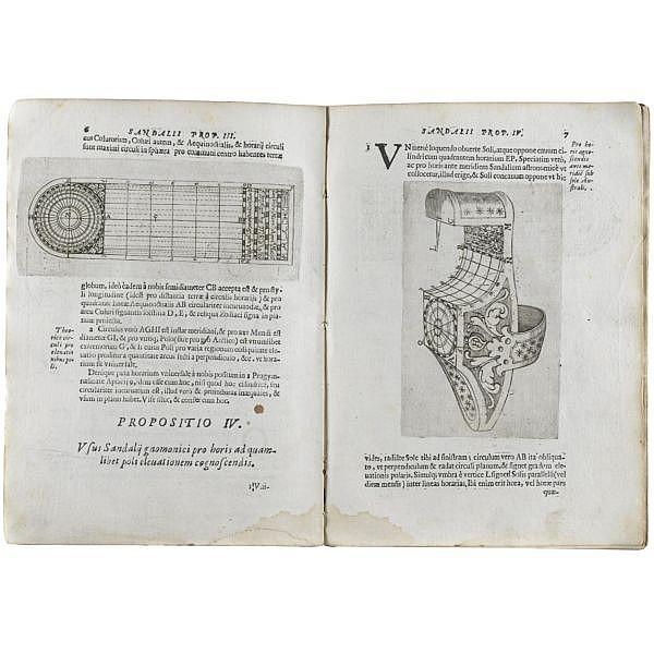 Bettini, Mario , Aerarium philosophiae mathematicae in qua Gnomonicae, Machinariae Philosophiae exodia sunt horaria, sandalium, cithara, microcosmus, arcus, tympanum. (Bologna: Giovanni Battista Ferroni, 1648)