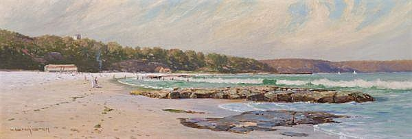 W. Lister Lister , Australian 1859 - 1943 EDWARD'S BEACH, MOSMAN Oil on canvas