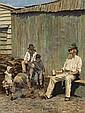 Julian Ashton , Australian 1851-1942 A CHIP OF THE OLD BLOCK Oil on canvas