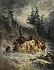 CHARLES HUMBERT   Troupeau dans une tempête de neige, 1858, Charles Humbert, Click for value
