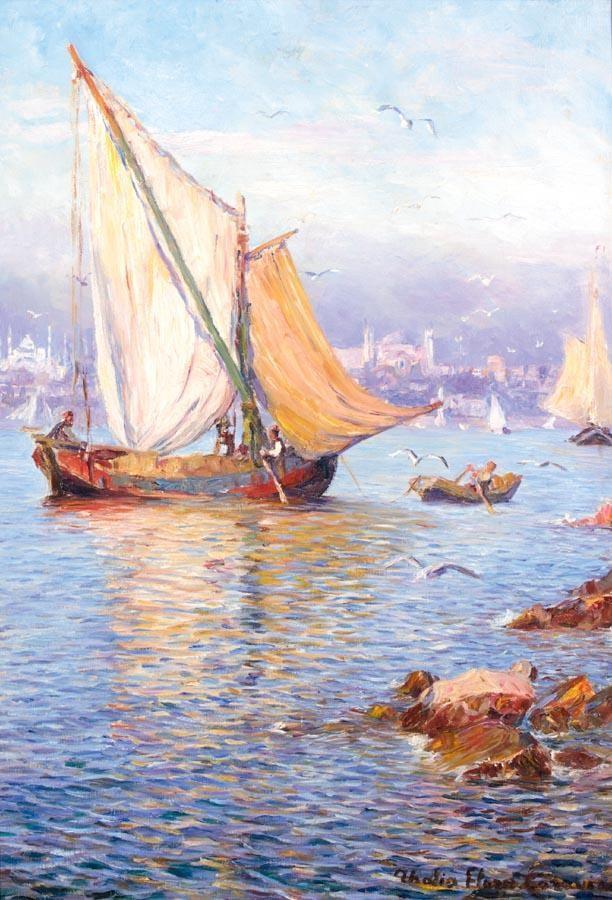 THALIA FLORA-KARAVIA GREEK, 1871-1960 SAILING BOATS IN CONSTANTINOPLE