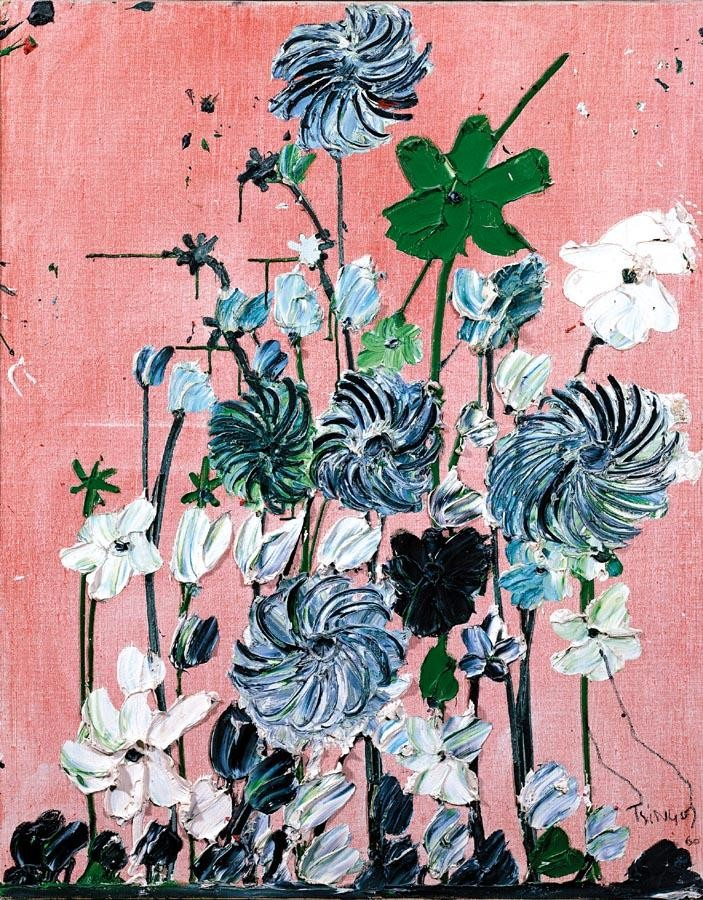 PROPERTY OF A PRIVATE COLLECTOR, BELGIUM THANOS TSINGOS GREEK, 1914-1965 FLOWERS ON A PINK