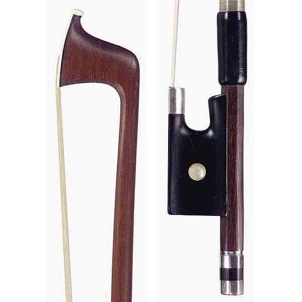 Jean Joseph Martin (Mirecourt, b 1837; d 1910) A silver-mounted violin bow Paris, circa 1890 , A silver-mounted violin bow
