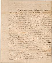 ALEXANDER HAMILTON, AUTOGRAPH LETTER TO MARGARITA (PEGGY) SCHUYLER, CONFESSING HIS LOVE FOR HER SISTER ELIZABETH, 1780