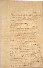 ALEXANDER HAMILTON, AN ANGUISHED LOVE LETTER TO ELIZABETH SCHUYLER THAT ALSO ANNOUNCES THE ARRIVAL OF GENERAL ROCHAMBEAU