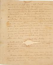 ALEXANDER HAMILTON, AUTOGRAPH LETTER SIGNED TO ELIZABETH SCHUYLER, EXPLAINING THAT HIS DUTIES PREVENT HIM FROM VISITING