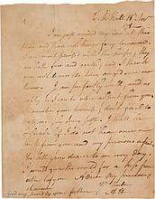 ALEXANDER HAMILTON, AUTOGRAPH LETTER SIGNED TO ELIZABETH HAMILTON, MENTIONING THE PURCHASE OF A NEW PAIR OF HORSES