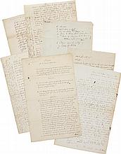 ALEXANDER HAMILTON, A GROUP OF FRAGMENTS OF EIGHT MISCELLANEOUS AUTOGRAPH LEGAL DOCUMENTS