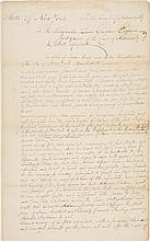 ALEXANDER HAMILTON, AUTOGRAPH LEGAL DOCUMENT SIGNED, NEW YORK STATE COURT OF ADMIRALTY, CA. 1783