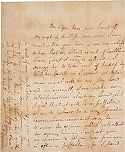 ALEXANDER HAMILTON, AUTOGRAPH LETTER SIGNED TO ELIZABETH HAMILTON, COMMISERATING OVER HER ILL HEALTH