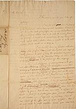ALEXANDER HAMILTON, AUTOGRAPH LETTER DRAFT TO JOHN JAY, CONCERNING HIS LAWSUIT AGAINST LITTLEPAGE AND LIVINGSTON