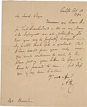 ALEXANDER HAMILTON, AUTOGRAPH LETTER SIGNED TO ELIZABETH HAMILTON, REPORTING PREPARATIONS TO END THE WHISKEY REBELLION