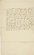 ALEXANDER HAMILTON, AUTOGRAPH FRAGMENT OF A WILL, EVIDENTLY WRITTEN IN ANTICIPATION OF A DUEL WITH JAMES NICHOLSON