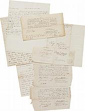 PHILIP JEREMIAH SCHUYLER. SMALL COLLECTION OF FAMILY AND OTHER CORRESPONDENCE DIRECTED TO HIM, CA. 1795–1810