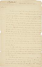 CHARELS COTESWORTH PINCKNEY, LETTER SIGNED TO ALEXANDER HAMILTON, ON MONEY MATTERS INVOLVING JOHN B. CHURCH