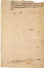 ALEXANDER HAMILTON, AUTOGRAPH LETTER DRAFT TO AN UNNAMED RECIPIENT, REGARDING THE PRESIDENTIAL ELECTION OF 1796