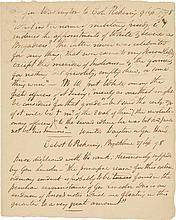 MANUSCRIPT COPY OF LETTERS BY GEORGE WASHINGTON AND GEORGE CABOT REGARDING  THE QUASI-WAR WITH FRANCE