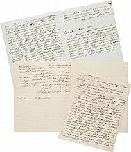 ANDREW JACKSON, THREE AUTOGRAPH LETTERS SIGNED TO JAMES A. HAMILTON