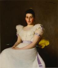 FRANK WESTON BENSON, 1862 - 1951   Lavender Trimmings