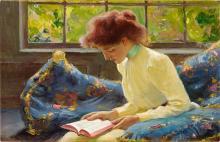 FRANZ DVORAK, 1862 - 1927 | Woman sitting by a window
