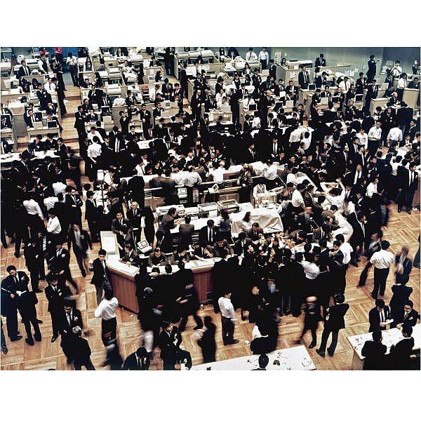 m - Andreas Gursky , b. 1955 Börse, Tokyo (Tokyo Stock Exchange) cibachrome print in artist's frame