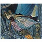 Georges-Antoine Rochegrosse , French 1859-1938 La Princesse Bleue oil on canvas   , Georges Rochegrosse, Click for value