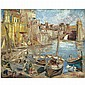Maria Melania Mutermilch (Mela Muter) , Polish 1876-1967   the Port of Collioure oil on canvas     , Mela Muter, Click for value