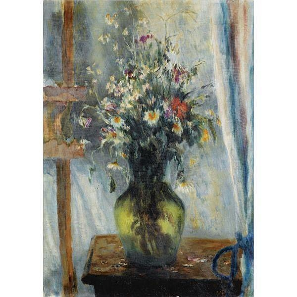 Vladimir Vasilevich Lebedev , 1891-1967 still life of flowers oil on canvas