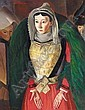 f - BORIS DMITRIEVICH GRIGORIEV, 1886-1939 BRETON WOMAN, Boris Grigor'Yev, Click for value