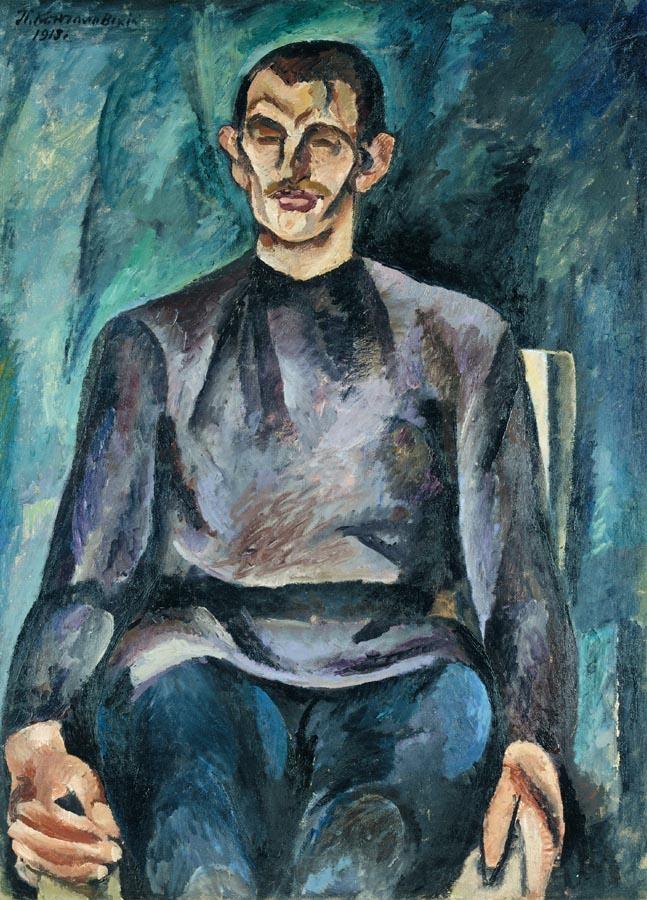 f - PETR PETROVICH KONCHALOVSKY, 1876-1956 PORTRAIT OF YURI PETROVICH YURIEV (DENIKE)