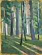ALEXANDER KONSTANTINOVICH BOGOMAZOV, 1880-1930 FOREST IN SUNLIGHT