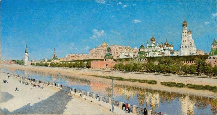 f - VASILI VASILIEVICH VERESHCHAGIN, 1842-1904 VIEW OF THE MOSCOW KREMLIN